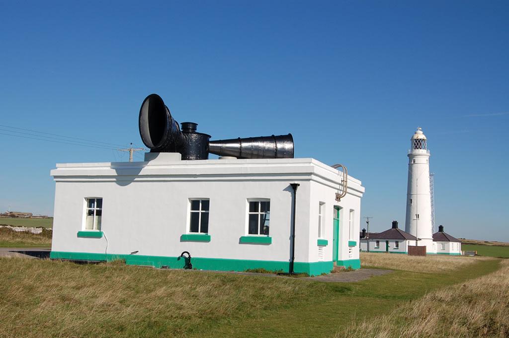 Nash Point lighthouse and fog signal