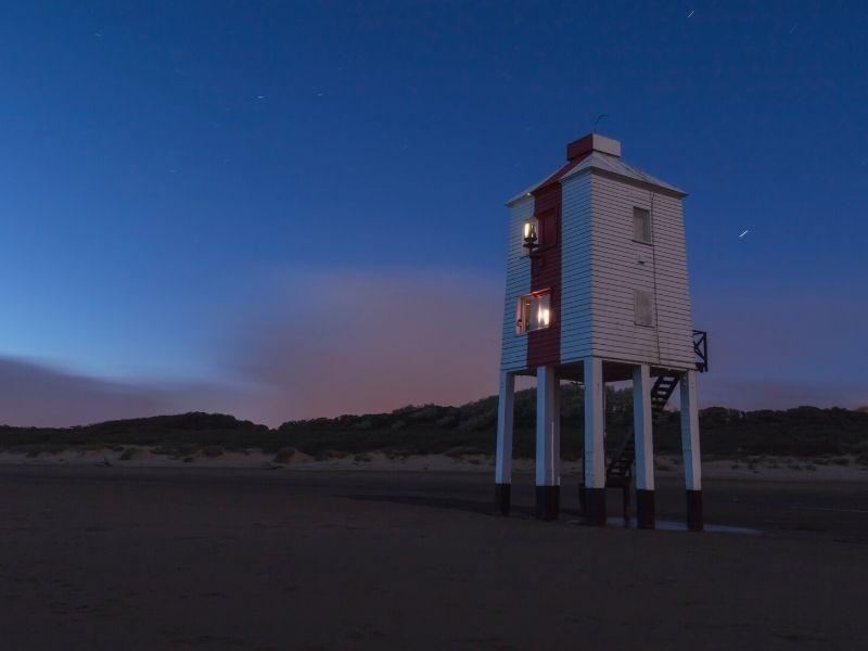 Burnham Lighthouse at night