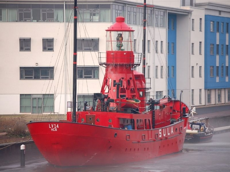 Lightship in Gloucester Quay