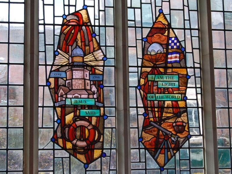 Cromer church window