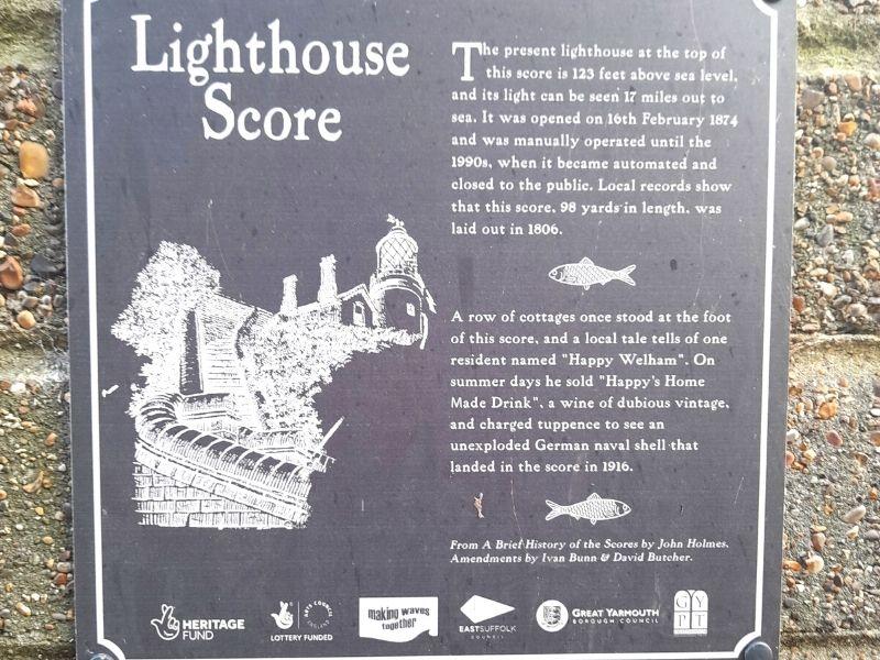 Lighthouse Score sign