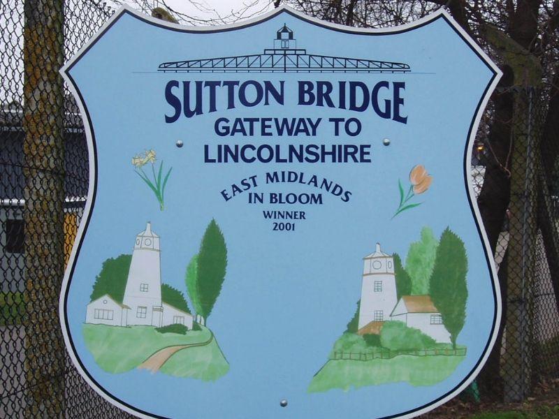 Sutton Bridge road sign