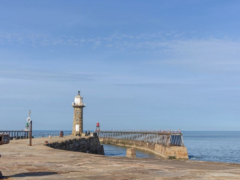 Whitby Harbour East Lighthouse