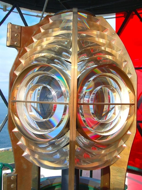 Skokholm lighthouse optic