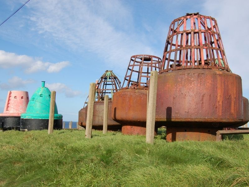 buoys at the Museum of Scottish Lighthouses