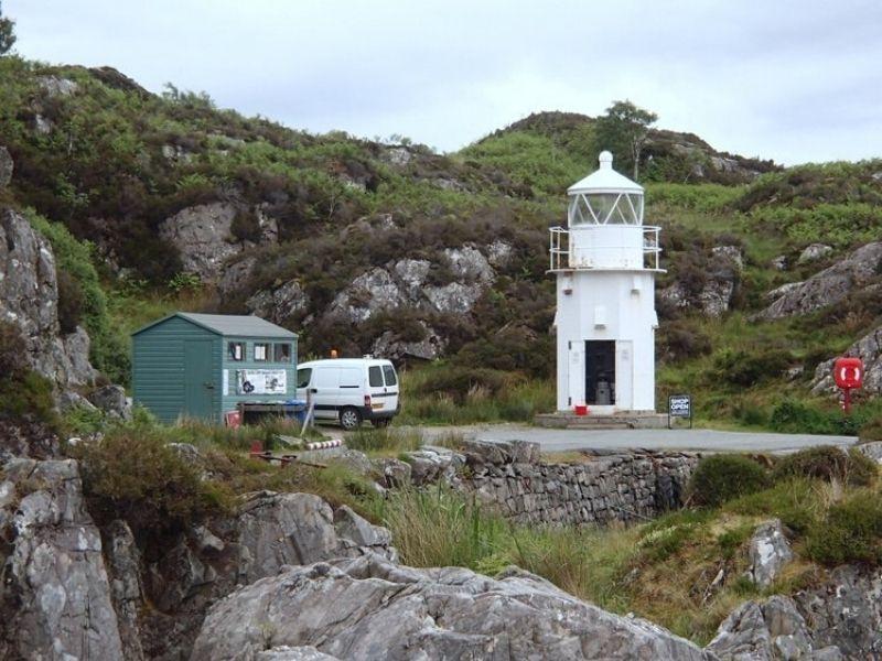 Sandaig Lighthouse at the ferry